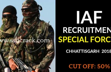 Indian Air Force Recruitment Special Forces Chhattisgarh 2018