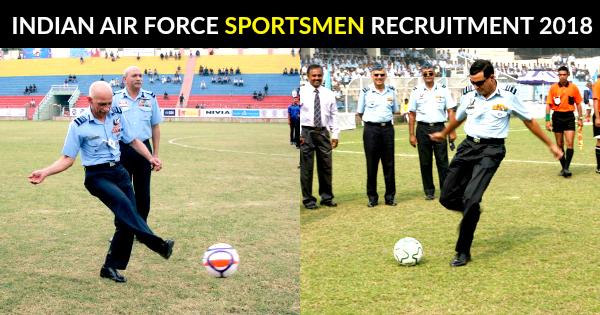 INDIAN AIR FORCE SPORTSMEN RECRUITMENT 2018