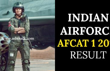 INDIAN AIRFORCE AFCAT 1 2018 RESULT
