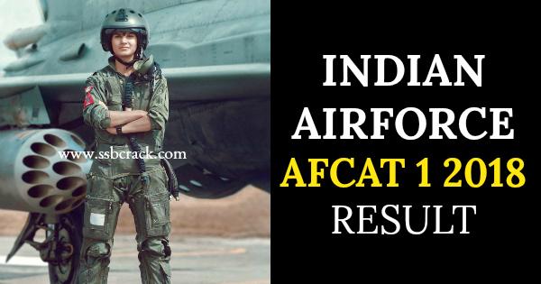 INDIAN AIRFORCE AFCAT 1 2018 RESULT