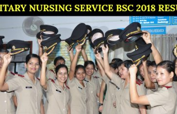 MILITARY NURSING SERVICE BSC 2018 RESULT