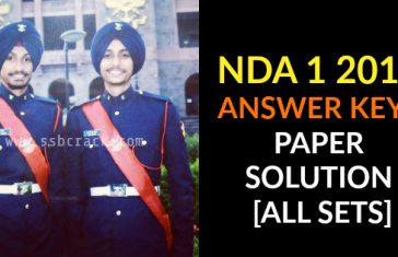 NDA 1 2018 ANSWER KEYS PAPER SOLUTION [ALL SETS]