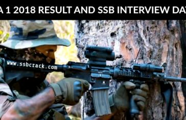 NDA 1 2018 RESULT AND SSB INTERVIEW DATES