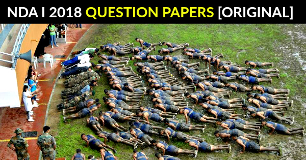 NDA 1 2018 Question Papers [ORIGINAL] Answer Key | Solutions