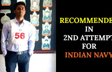 RECOMMENDED IN 2ND ATTEMPT FOR INDIAN NAVY