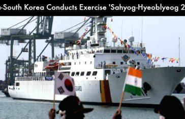 India-South Korea Conducts Exercise 'Sahyog-Hyeoblyeog 2018'