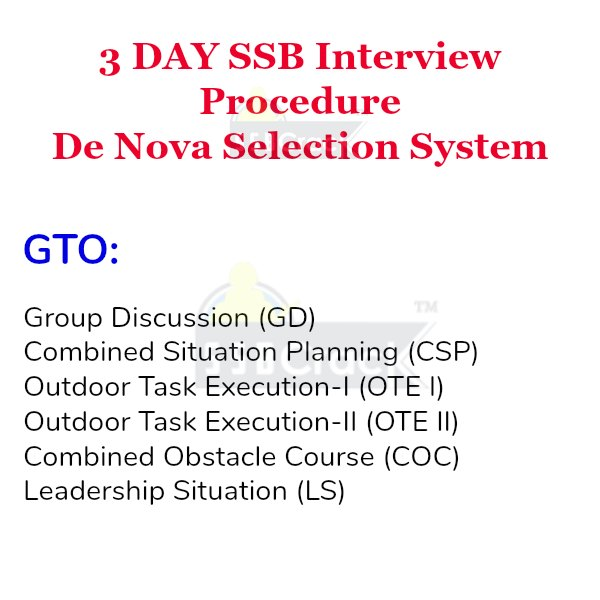 3 day ssb interview gto
