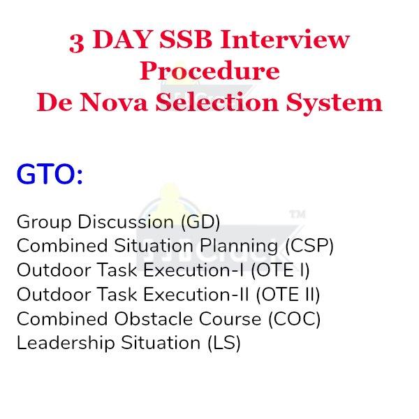 3 day ssb interview gto
