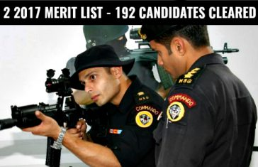 CDS 2 2017 MERIT LIST - 192 CANDIDATES CLEARED SSB