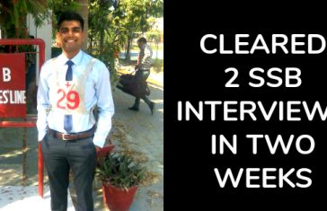 CLEARED 2 SSB INTERVIEWS IN TWO WEEKS