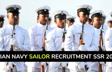 Indian Navy Sailor Recruitment SSR 2019 - Senior Secondary Recruits