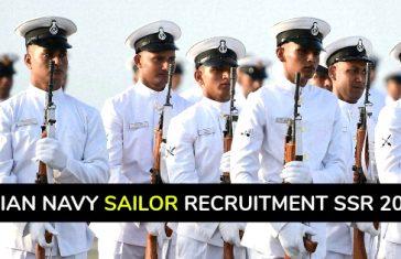 Indian Navy Sailor Recruitment SSR 2018 - Senior Secondary Recruits
