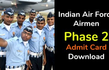 Indian Air Force Airmen Phase 2 Admit Card Download