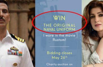 Twinkle Khanna navy uniform