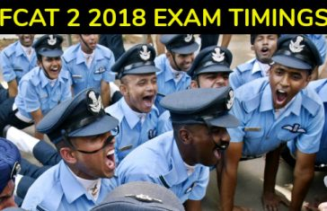 AFCAT 2 2018 EXAM TIMINGS