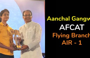 Aanchal Gangwal AFCAT Flying Branch AIR - 1