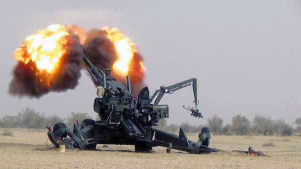 Dhanush Howitzer During a Test