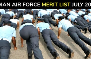 INDIAN AIR FORCE MERIT LIST JULY 2018