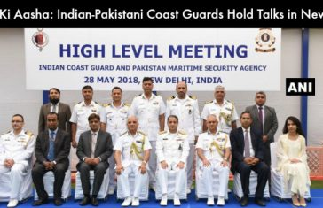 India and Pakistan Coast Guard Officials During the Meet Cover