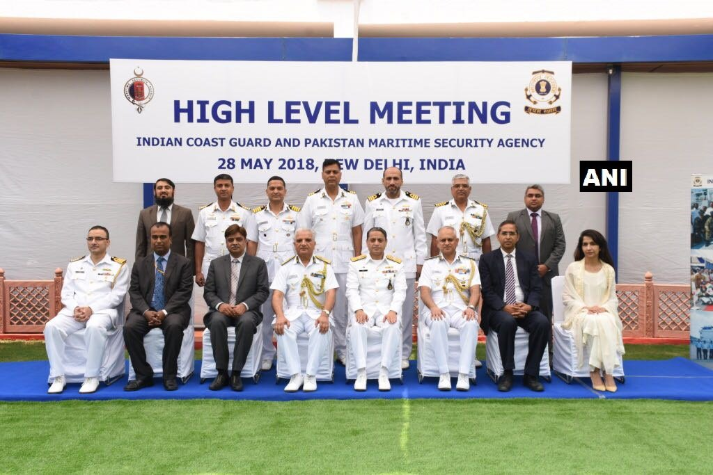 India and Pakistan Coast Guard Officials During the Meet