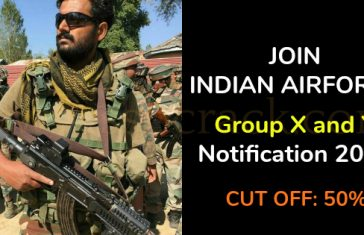 Join Indian Air Force Airmen Group X and Y Notification 2019