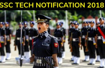 SSC TECH NOTIFICATION 2018