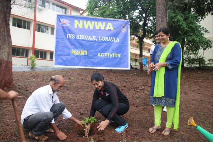 Tree Plantation By Naval Wives Welfare Associassion