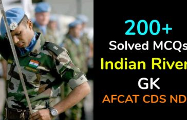 200+ Solved MCQs Indian Rivers GK For AFCAT CDS NDA UPSC
