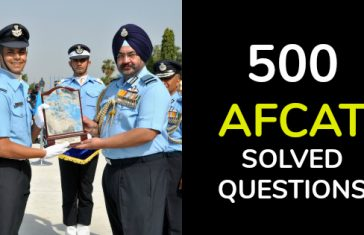 500 Solved AFCAT Questions [Download Now]