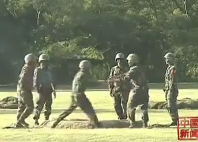 Chinese Soldiers Playing Hot Potato With Live Grenade