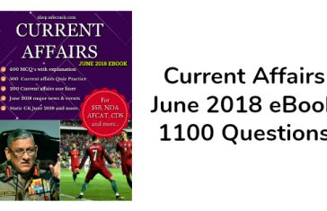 Current Affairs June 2018 eBook 1100 Questions