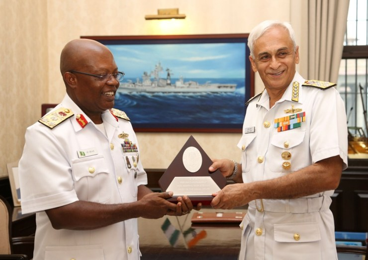 Nigerian Navy Chief With Adm Sunil Lanba