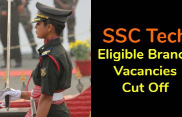 SSC Tech Eligible Branch Vacancies Cut Off