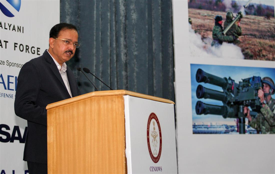 The Minister of State for Defence, Dr. Subhash Ramrao Bhamre addressing the inaugural function of Air Defence India 2018