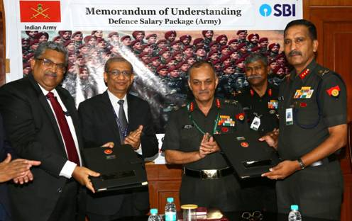 SBI inks Deal With Indian Army