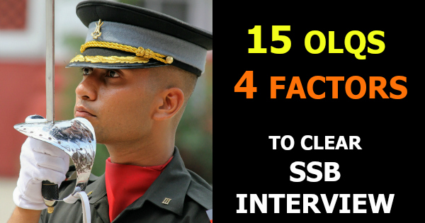 15 OLQS 4 FACTORS TO CLEAR SSB INTERVIEW