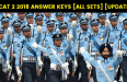 AFCAT 2 2018 Answer Keys [All Sets] [UPDATED]