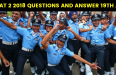 AFCAT 2 2018 QUESTIONS AND ANSWER 19TH AUG