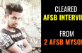 Cleared AFSB Interview in 1st Attempt from 2 AFSB Mysore
