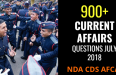 CURRENT AFFAIRS QUESTIONS JULY 2018