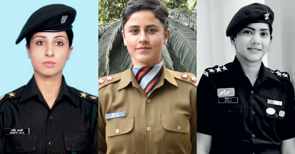 Indian army women officers
