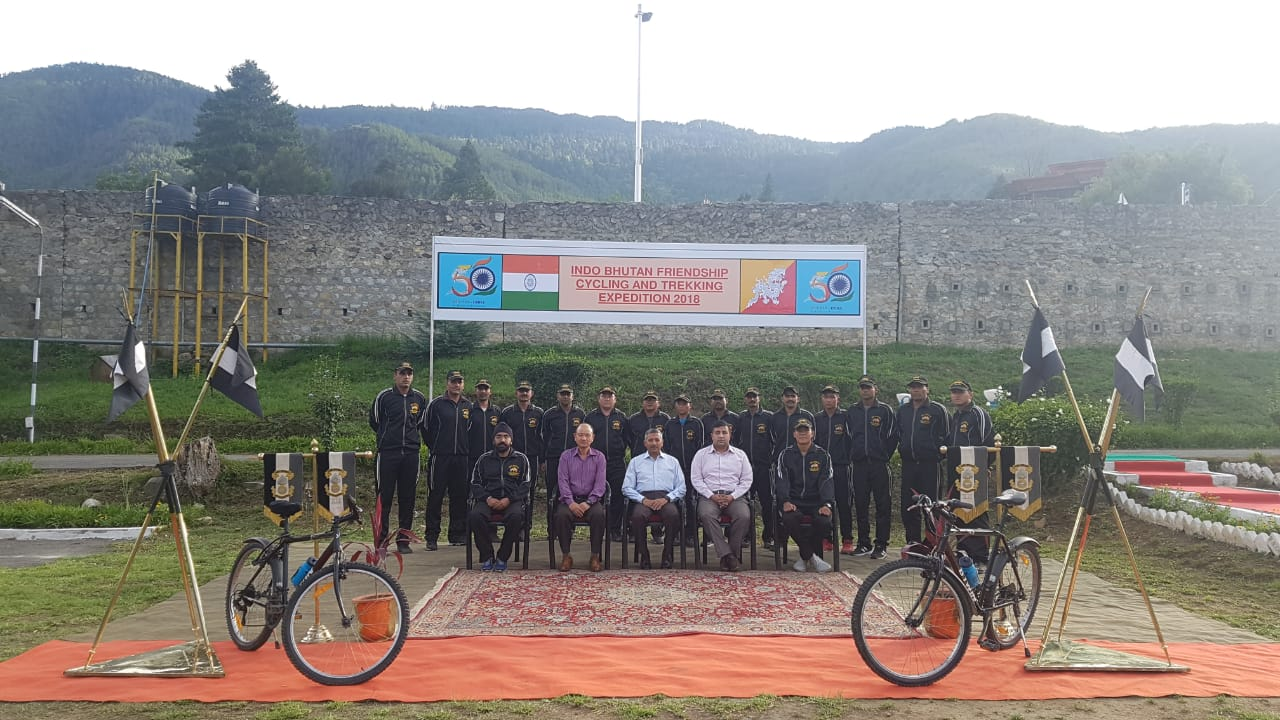 Joint cycling cum Trekking expedition by Indian Army & Royal Bhutan Army