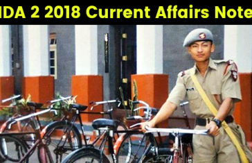 NDA 2 2018 Current Affairs Notes