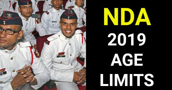 NDA 2019 AGE LIMITS