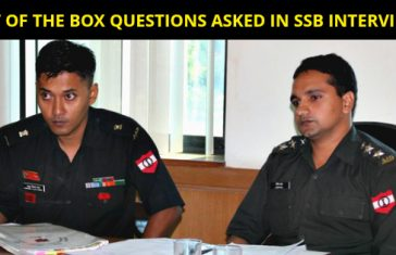 OUT OF THE BOX QUESTIONS ASKED IN SSB INTERVIEWS
