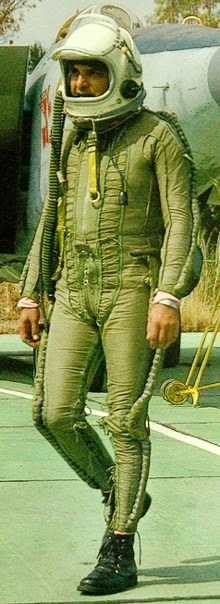 "This is one of the rare pic of any MiG-25 Foxbat pilot. He belongs to the IAF No.102 ""The Trisonic"" squadron."