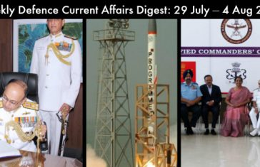 Weekly Defence Current Affairs Digest: 29 July – 4 Aug 2018