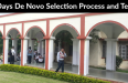 3 Days De Novo Selection Process and Tests