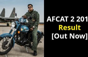 AFCAT 2 2018 Result [Out Now]