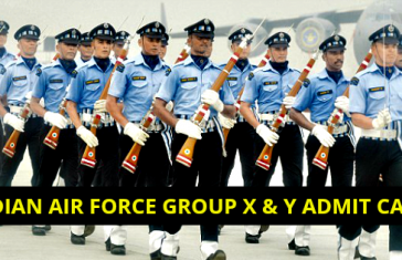 Indian Air Force Group X & Y Admit Card 2019 [Download Now]